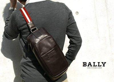 【全新正貨私家珍藏】瑞士 Bally 牛皮男士都市斜挎包 胸包/TABEL-MD