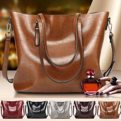 歐美時尚油蠟大容量皮包 托特包 手提包...