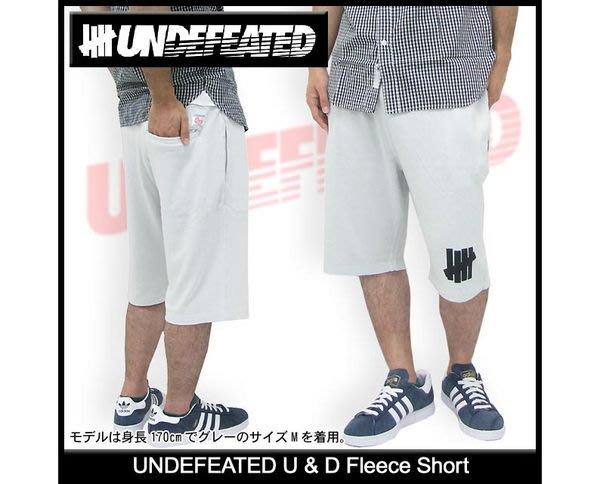 【 超搶手 】全新正品 夏季 Undefeated  U & D Fleece Short  運動棉褲 短褲 淺灰 L