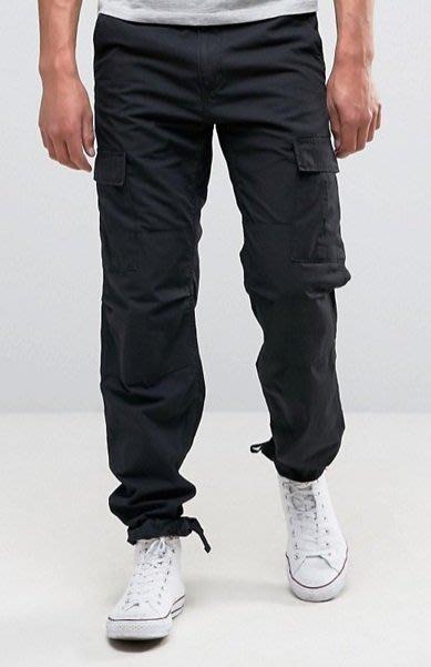 ◎美國代買◎Carhartt WIP抽繩褲口有蓋口袋經典百搭款黑色口袋抽繩工作褲休閒長褲~歐美街風~大尺碼