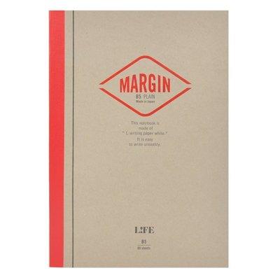 =小品雅集=日本 LIFE MARGIN NOTE B5筆記本(空白)
