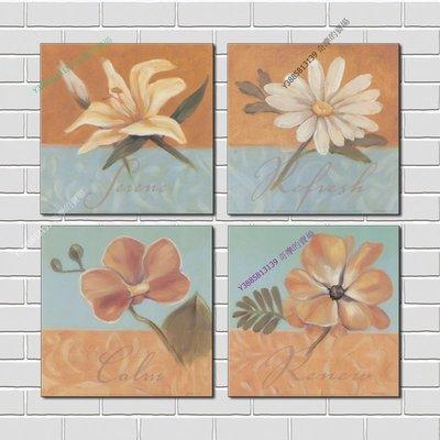 【50*50cm】【厚2.5cm】印象花卉-無框畫裝飾畫版畫客廳簡約家居餐廳臥室牆壁【280101_202】(1套價格)