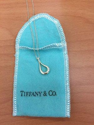 Tiffany 水滴型 項鍊