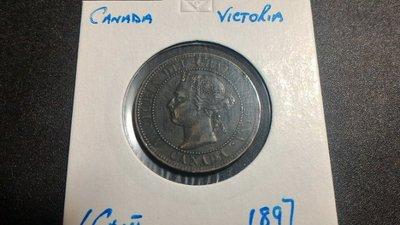 1897年加拿大1 CENT 銅幣