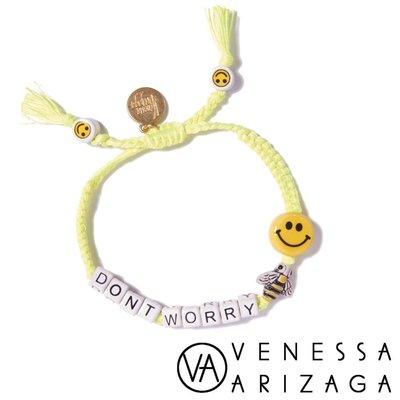 Venessa Arizaga DON'T WORRY BEE HAPPY 笑臉黃色手鍊