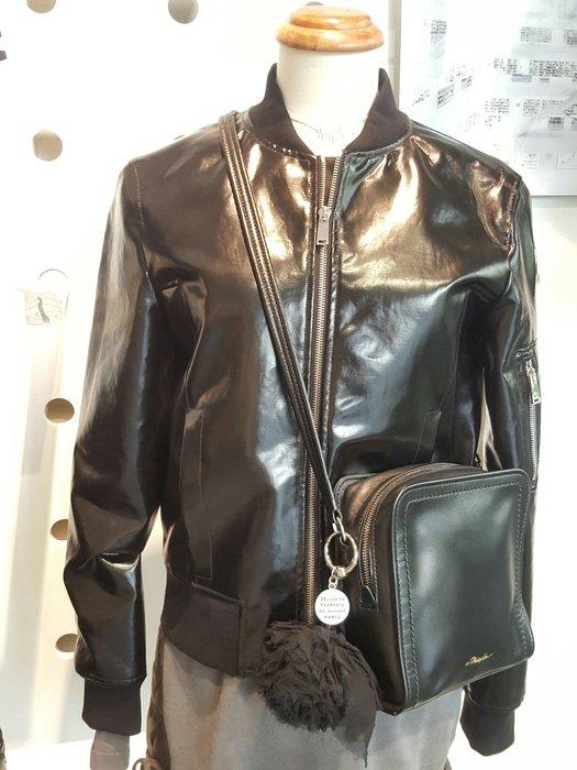 [ RainDaniel ] paco rabanne  法國時尚品牌 黑色 皮夾克外套