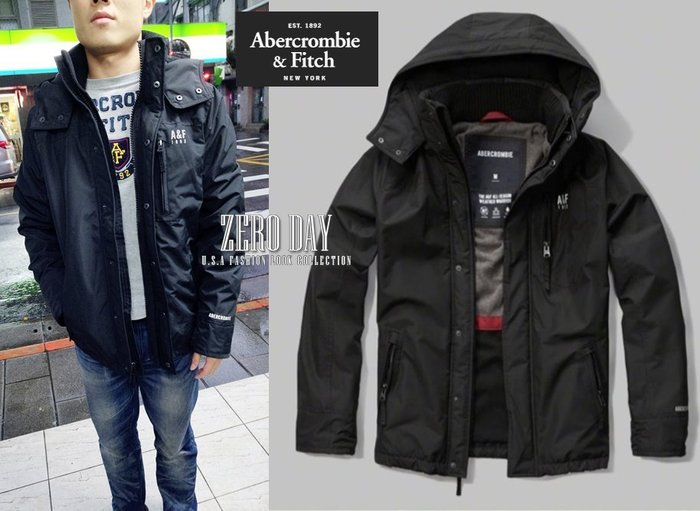 A&F Abercrombie All-Season Weather Warrior Hooded Jacket風衣外套