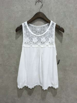 Maple麋鹿小舖 Abercrombie&Fitch * A&F 白色蕾絲無袖上衣 * ( 現貨S/M號 )