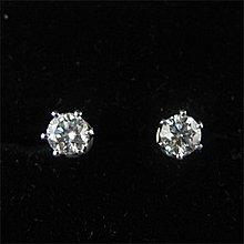 順利當舖   42分鑽兩顆共0.84ct 六爪台淑女鑽石耳環