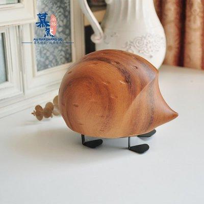 宏美飾品館~外貿鄉村復古仿木刺猬 家居簡約花園辦公室書房擺件裝飾品禮物