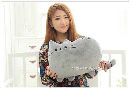 貓咪抱枕臉書貓喵星人(灰色)