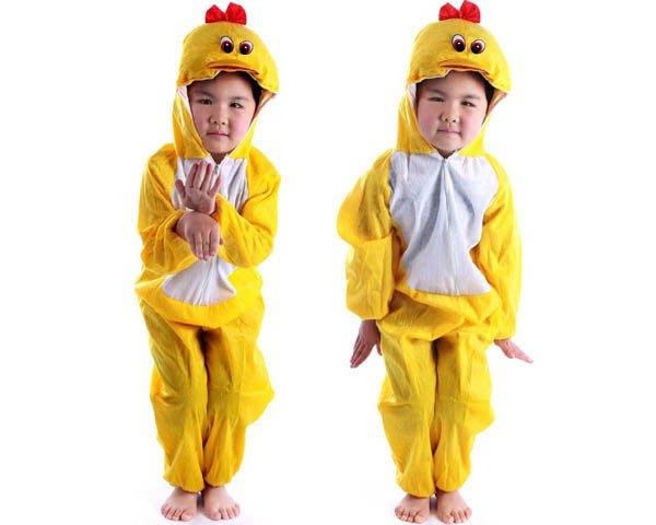 5Cgo【鴿樓】會員有優惠 18229697945 兒童表演服裝演出服裝卡通 動物衣服 小黃鴨服裝 家居服 睡衣