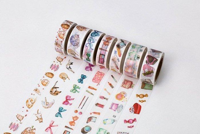 和紙膠帶-美妝貓系列