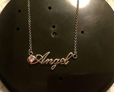 【 心型單鑽 Angel(天使)925純銀 項鍊 】現貨特價。不過敏、不褪色。唯此真愛、一生閃耀,鑲鑽奢華質感。