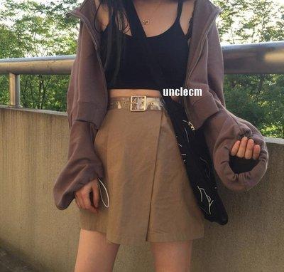 腰帶皮帶女透明腰帶女款 韓版全透明塑料皮帶