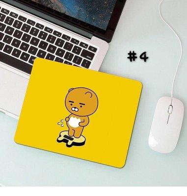 韓國 Kakao Friends 萊恩 屁桃 PVC 滑鼠墊  圓版 220x220x3mm 現貨 4款