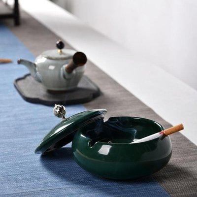 煙灰缸 創意時尚大號不帶蓋水晶玻璃煙灰缸 臥室客廳個性陶瓷煙缸-蛋蛋年代