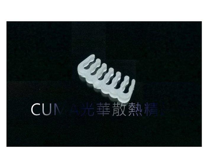 光華CUMA散熱精品*整線材料 PVC 蛇皮網 編織網 理線排 理線梳 12PIN 顯示卡6+6PIN用 白色~現貨