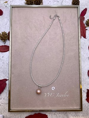 【YYC Jewelry】淡水珍珠 極光 圓珠 項鍊 水晶項鍊 #P20