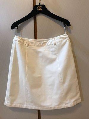 PRADA 二手義大利進口品牌白色窄裙44