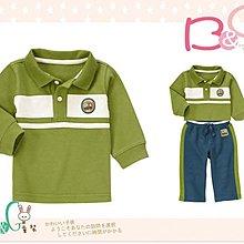 【B& G童裝】正品美國進口GYMBOREE Construction Zone Polo Shirt 工程車圖樣綠色長袖polo衫12-18m