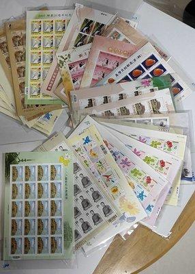 台灣郵政小版張,含特503,505,507,510,512,514,519,522,紀307,(2613) 全品