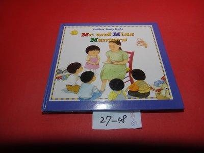 【愛悅二手書坊 27-08】 Taddlers' family book Mr.and Miss Manners