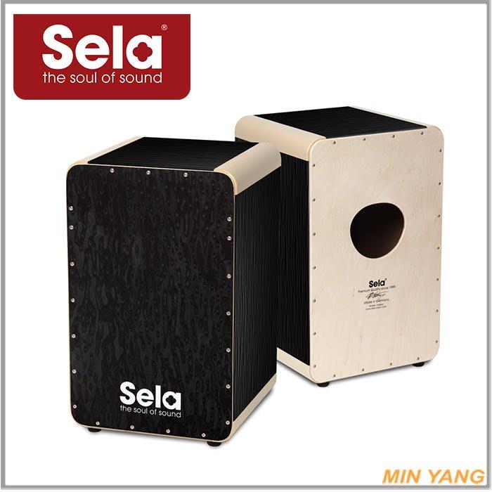 【民揚樂器】木箱鼓 Sela SE-023 Wave Black cajon 德國製