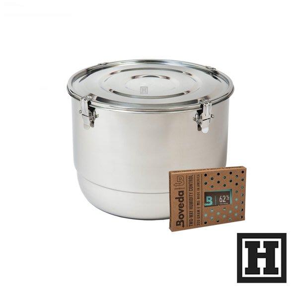 [H Market] 美國原裝進口 CVault 不鏽鋼 儲存罐 21 Liter 密封式設計 附保濕包 台灣 台北