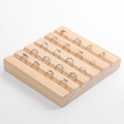 hello小店-原木實木戒指展示盤架首飾架櫥窗陳列展示架木質托盤#飾品架#展示道具#