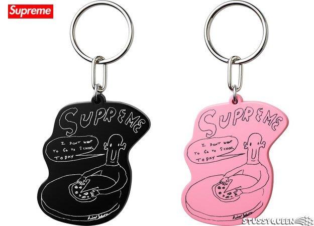 【超搶手】2015 藝術家聯名 Supreme x Daniel Johnston Keychain 鑰匙圈 黑色 粉紅