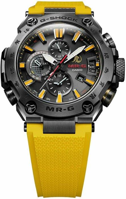 CASIO G-SHOCK 80週年 李小龍 Bruce 手錶 紀念錶 MRG G2000BL 9A鈦金屬 電鍍 藍寶石 太陽能 六局電波 日本製 黑黃色