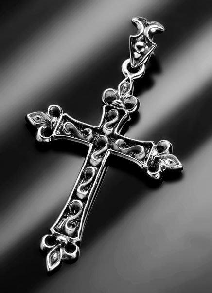 【創銀坊】聖歌德 十字架 925純銀 墜子 上帝 搖滾 龐克 基督教 哈雷 耶穌 聖母 克羅心 神 項鍊(P-7603)