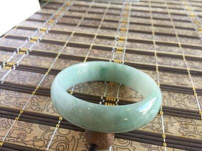 壹竹林 天然A貨豆青種緬甸玉手鐲 141102-2