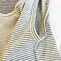 韓版修身顯瘦原宿條紋圓領寬版背心女夏外穿棉質無袖涼感上衣