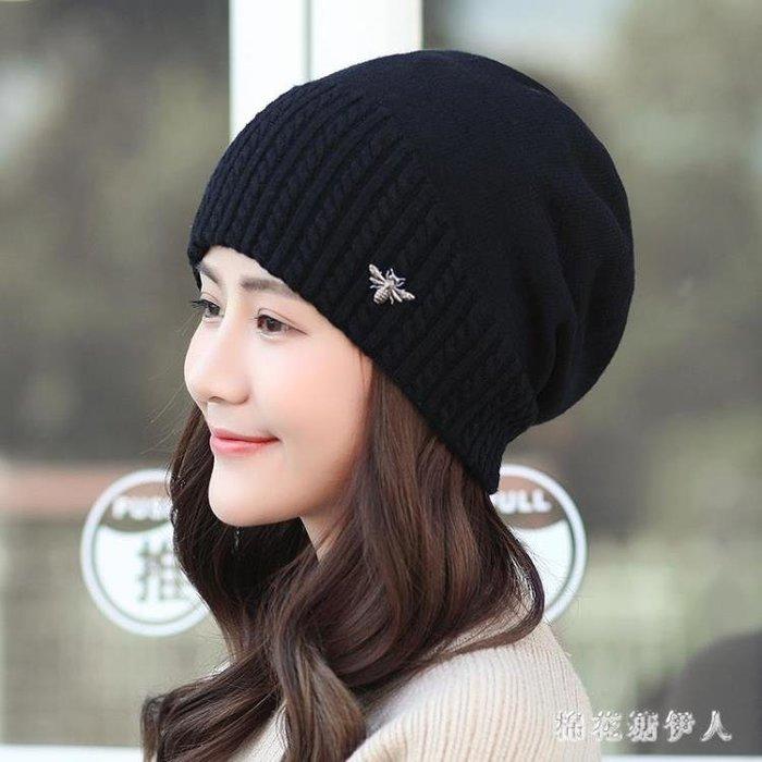 月子帽 秋冬針織保暖毛線帽秋冬季韓版護耳時尚百搭月子帽 AW7257