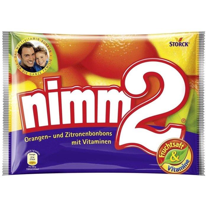 德國 nimm2 Bonbons 240g 維他命水果夾心糖果 (硬式糖果)