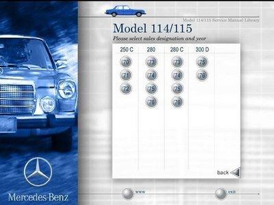 BENZ W114 W115 W123 W124 W126 C126 W201 W202 190 C E CE SEL SEC TN T1車主手冊維修手冊電路圖