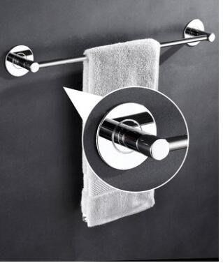 免打孔304不銹鋼毛巾桿單桿衛生間毛巾掛桿浴室毛巾架置物架掛架毛巾架安居樂業