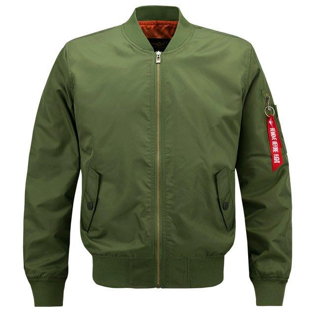 至尚運動嚴選高品質外套 雙層薄款防風外套 立領夾克 空軍一號飛行夾克 男裝 素色外套 肥佬大尺碼 S-8XL