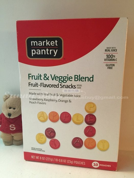 ~Sunny Buy~~ 在美~ Market pantry 蔬果口味軟糖 英文字母 盒裝