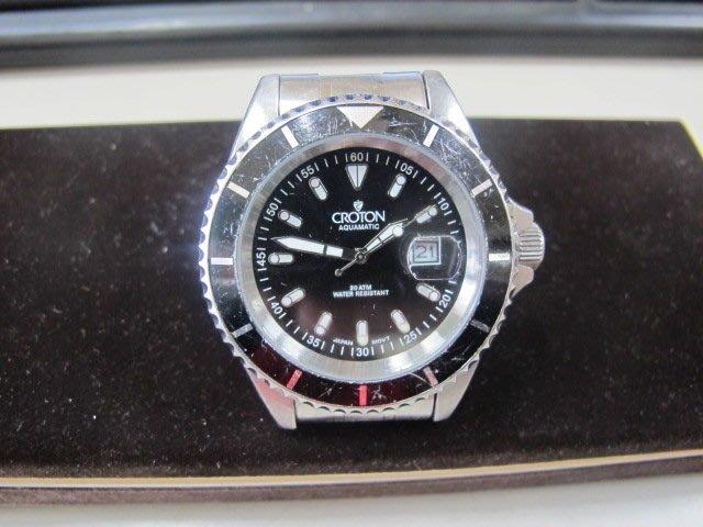 二手舖 NO.1143 Croton 巴豆 手錶 男錶