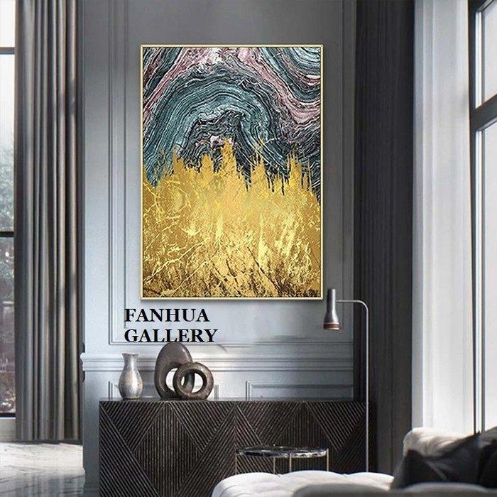 C - R - A - Z - Y - T - O - W - N 金色流金抽象高端掛畫時尚大理石藝術裝飾畫玄關巨幅掛畫金箔效果抽象大氣牆畫設計師款裝飾畫