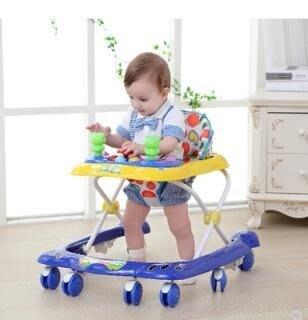 學步車寶寶嬰兒幼兒童6/7-18個月小孩多功能防側翻手推可坐帶音樂