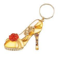 代購  日本東京迪士尼Disney Store美女與野獸 高跟鞋鑰匙圈