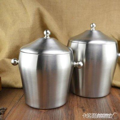 冰桶 加厚雙層不銹鋼冰桶 帶蓋冰粒桶 ...