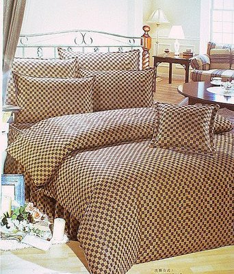 似LV咖啡黃格.床包.枕套.涼被.4.5*6.5尺.5*6尺單人被單.兩用被.單人.雙人.加大.台灣製