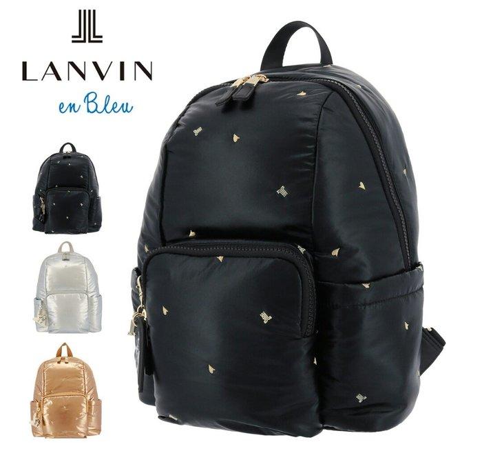 天使熊雜貨小舖~LANVIN en Blue 背包(黑)全新現貨