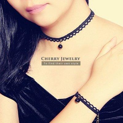 蕾絲珍珠造型頸鍊 手鍊 10282【櫻桃飾品】【10282】
