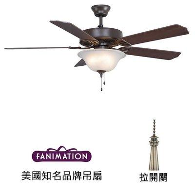Fanimation Aire D'ecor 52英吋吊扇附燈(BP225OB1)油銅色 適用於110V電壓